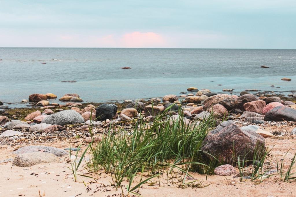 Igaunija, atpūtas vietas un teltsvietas pie jūras ar grilu
