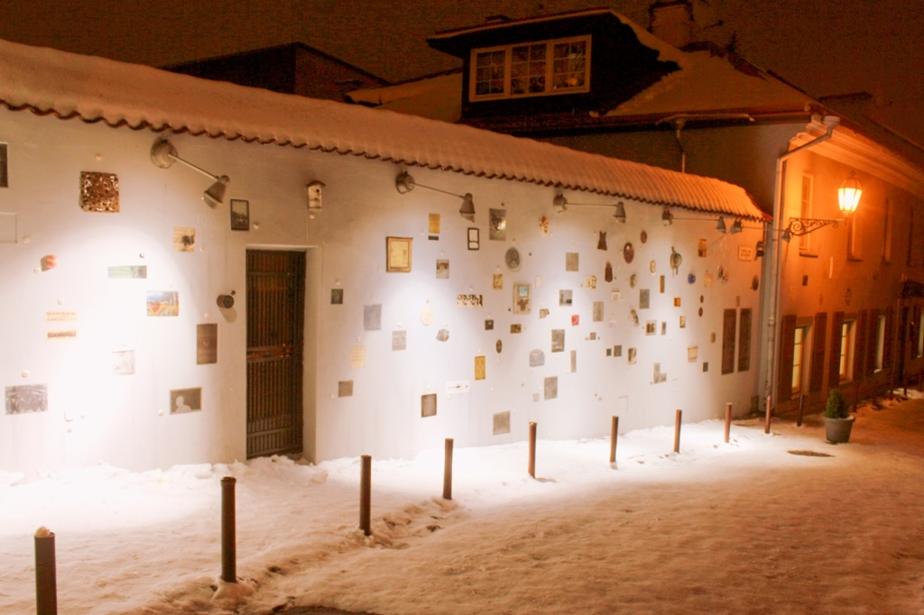 viļņas vecpilsēta lietuva ziemassvētki