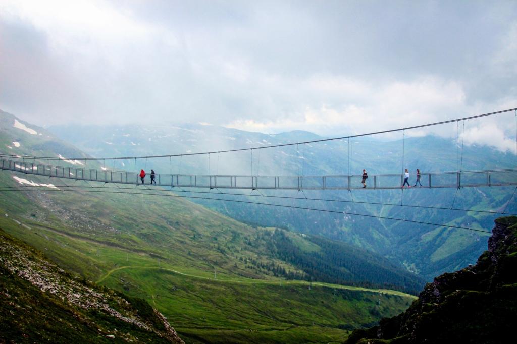 Stubnerkogel trošu tilts austrijas alpi