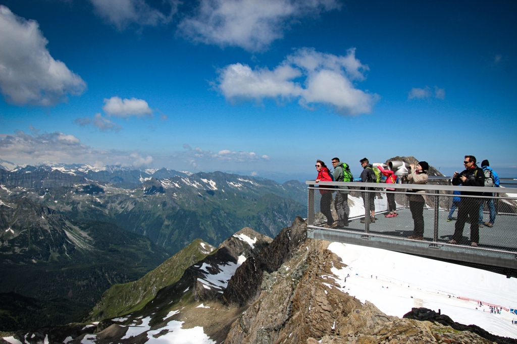 Kitzsteinhorn virsotne austrijas alpi