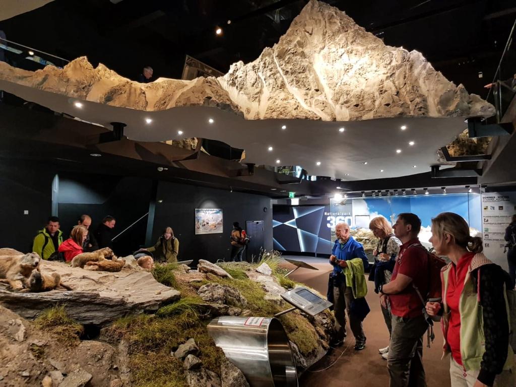 Augstā Tauerna nacionālā parka muzejs austrijas alpi