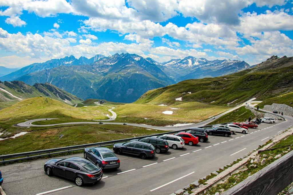 Grosgloknera Alpu panorāmas ceļš austrijas alpi