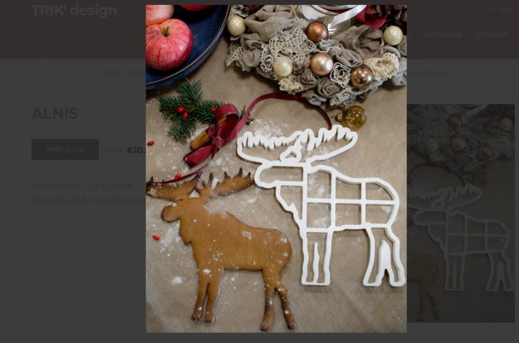 trik design piparkūku formiņas ziemassvētku dāvanas